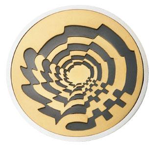 Médaille du prix Paul-Émile-Borduas 1993 créée par Antoine La Mendola
